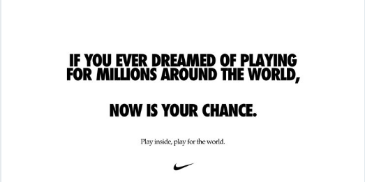 Play inside, play for the world.